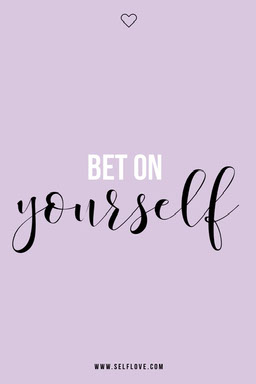 Purple Bet On Yourself Pinterest Post