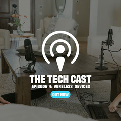 Tech Podcast Instagram Square with Table with Microphones Tech