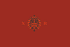 Red Business Brand Logo with Dragon Red