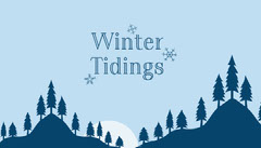Blue Winter Tidings Gift Tag Forest