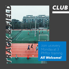 Black & Blue Track and Field Club Instagram Square Sports