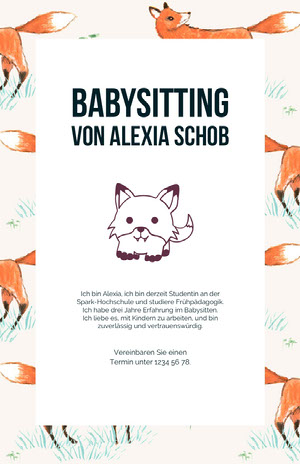 babysittingflyers  Business-Flyer