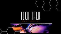 Futuristic Black Purple Honeycomb Tech Talk Youtube Channel Art  Tech