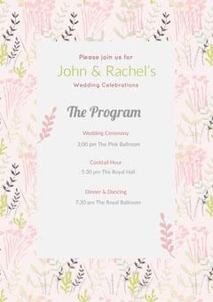 The Program Weddings