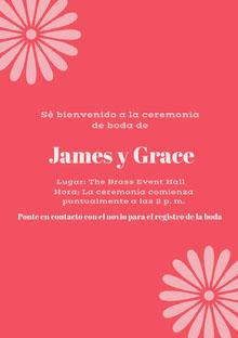 pink wedding cards  Tarjetas de agradecimiento de boda