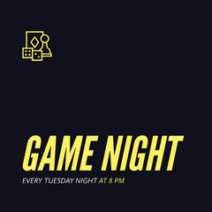 GAME NIGHT Game Night Flyer