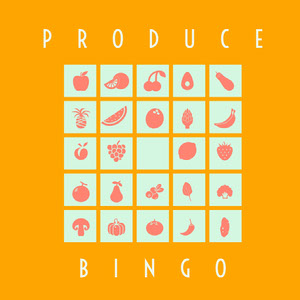 Yellow Pink and White Bingo Card ビンゴカード