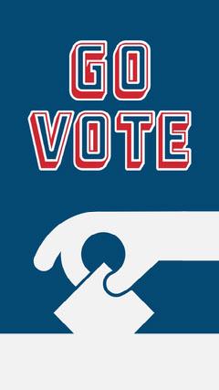 Blue & Grey Go Vote Instagram Story Election