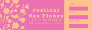 Festival des Fleurs  Billet de tombola