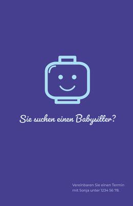 Sie suchen einen Babysitter? Flyer