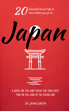 Red Illustrated Torii Gate Japan Travel Guide Kindle Cover Japan