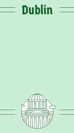 Green and White Dublin Social Post Adventure