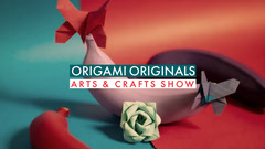 Red and Blue Origami Event Youtube Tutorial Art Show