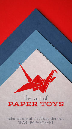 Red and Blue Papercraft Instagram Story Crafts