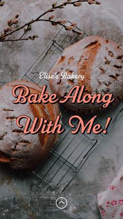 Pink Bread Photo Baking Instagram Story  Bakery