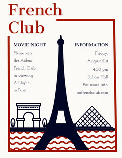 French Club  Night Club Flyer