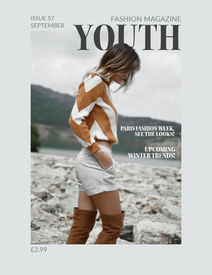 Light Toned Fashion Magazine Cover Magazine Cover for Vogue