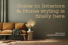 Green Interior & Home Styling Postcard Flyer Decor