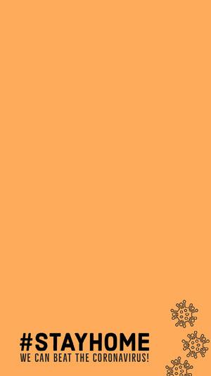 "Orange Coronavirus Safety Hashtag Snapchat Filter Poster ""Wir bleiben zuhause"""