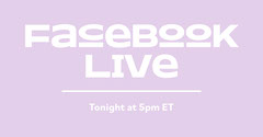 Light Pink Minimal Typography Live Stream Event Announcement Facebook Post Graphic Stream