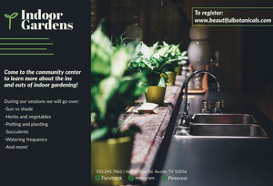 Green Indoor Gardening Brochure Brochure