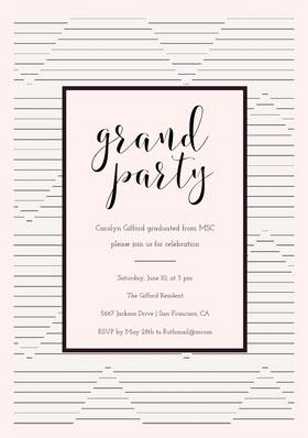 grand  Graduation Invitation