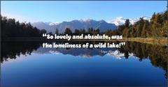 blue scene landscape quote Facebook post Lake