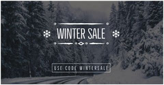 Winter Sale Snow Forest Facebook Ad Sale Flyer