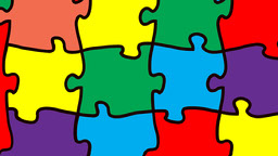 Colorful Jigsaw Puzzle Zoom Background