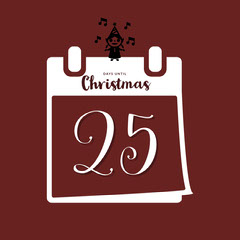 Brown and White Minimalistic Christmas Countdown Instagram Post Countdown