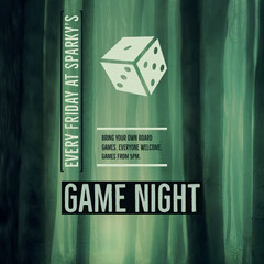 Green and Black Game Night Instagram Graphic Game Night Flyer