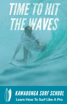 TIME TO HIT THE WAVES School Posters