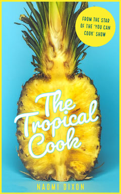 Blue and Yellow Tropical Cook Book Cover Cooking