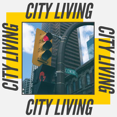 Black and a Yellow City Living Instagram Square City