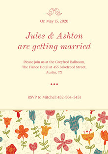 Jules & Ashton are getting married  Wedding Cards