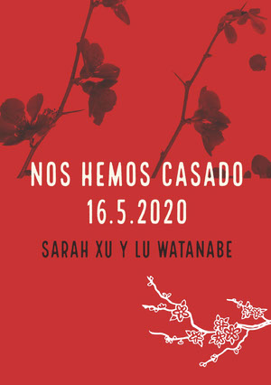 red orchids wedding announcements  Anuncio de boda