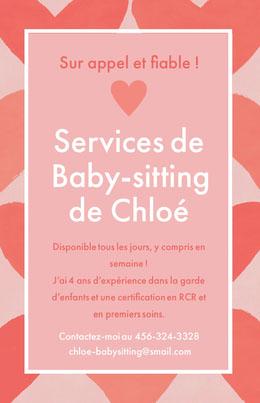 Services de<BR>Baby-sitting <BR>de Chloé Prospectus