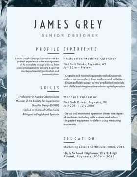 JAMES GREY Creative Resume