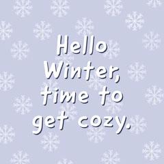 Hello Cosy Winter Instagram Square Winter