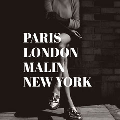 PARIS <BR>LONDON <BR>MALIN <BR>NEW YORK  Black And White