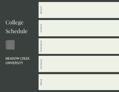 College Schedule College