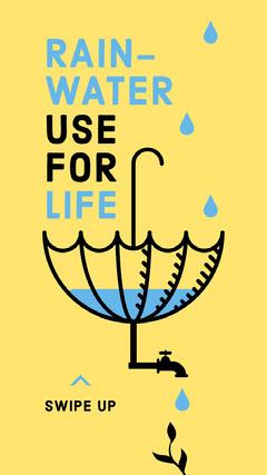 Save Rainwater Instagram Story Water