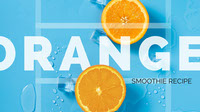 Blue and Orange Smoothe Recipe YouTube Arte de canal do YouTube