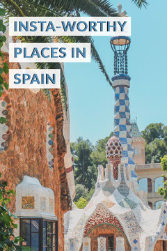 Spain Travel and Tourism Guide Pinterest Ad with Architecture Travel Agency