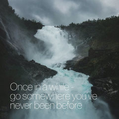 Once in a while quote Instagram Square Travel