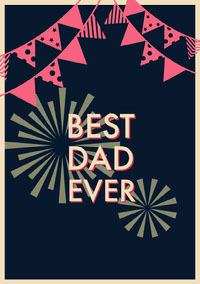 Black Red and Yellow Father's Day Card Carte