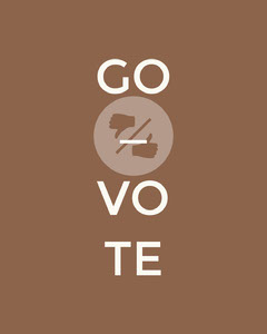 Brown Go Vote Instagram Portrait Graphic Voting