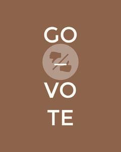 Brown Go Vote Instagram Portrait Graphic Election
