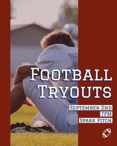Football Tryouts Football