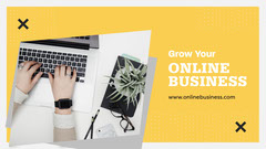 Black and Yellow, Light Toned, Online Business Course Ad, Facebook Page Cover Educational Course